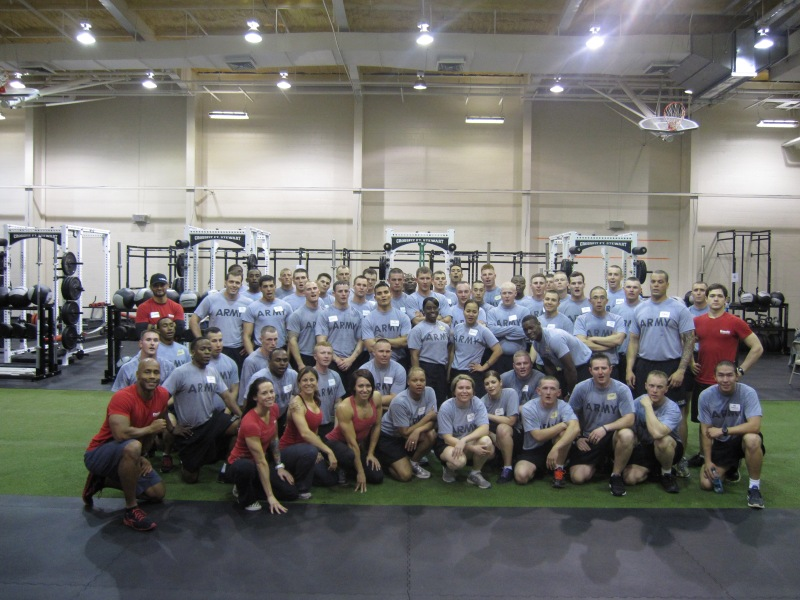 A CrossFit L1 seminar at Fort Stewart in 2012.