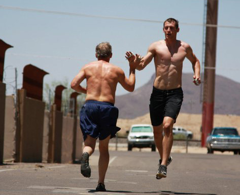 "Blake Masters and his dad, 39 minutes into ""Murph."" Memorial Day, 2011."