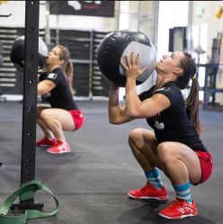 Camille Leblanc-Bazinet and Michele Letendre demonstrate full depth.