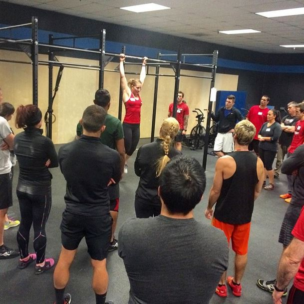 Unlike Barnett's university education, CrossFit teaches women how to do pull-ups.
