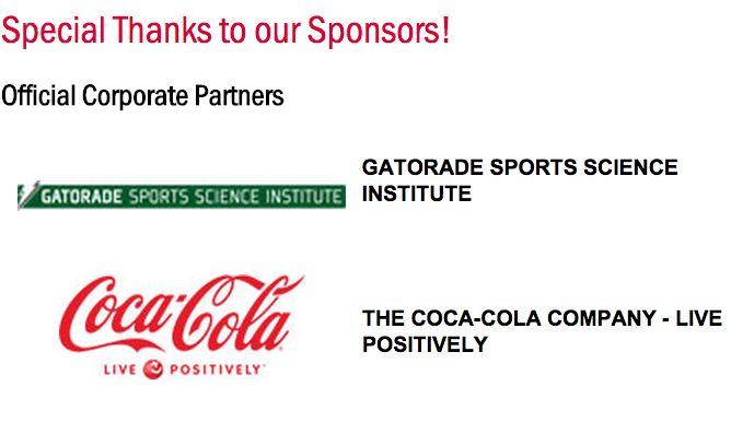 The American College of Sports Medicine's top sponsors are Pepsico and Coca-Cola.