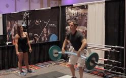 A power clean at the NSCA's National Conference:  http://bit.ly/1GYNm85