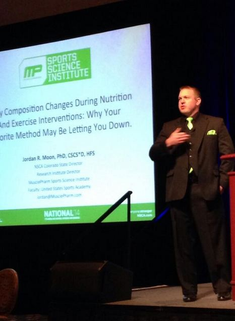 Musclepharm Sports Science Institute Director Jordan Moon presents at the NSCA National Conference.