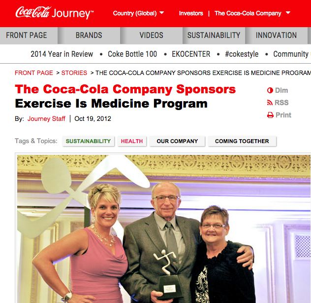 Source: http://www.coca-colacompany.com/stories/doctors-orders-exercise-can-save-your-life
