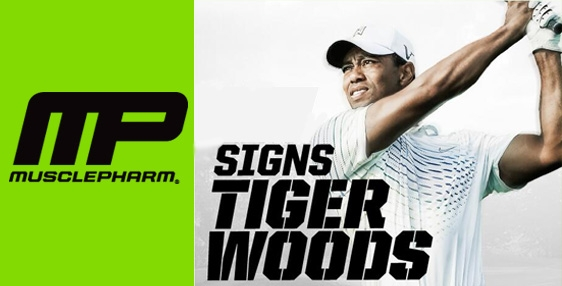 Musclepharm signed Tiger Woods: http://www.sportika.com/news/article/tiger-woods-to-debut-musclepharm-as-new-golf-bag-sponsor