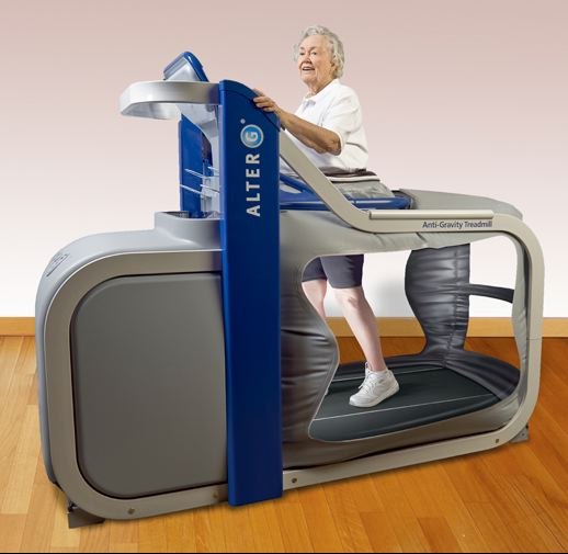 Testing grandmom on a treadmill may not prepare a scientist for helping a football team: http://davislifecareorg.startlogic.com/alter-g-anti-gravity-treadmill.html
