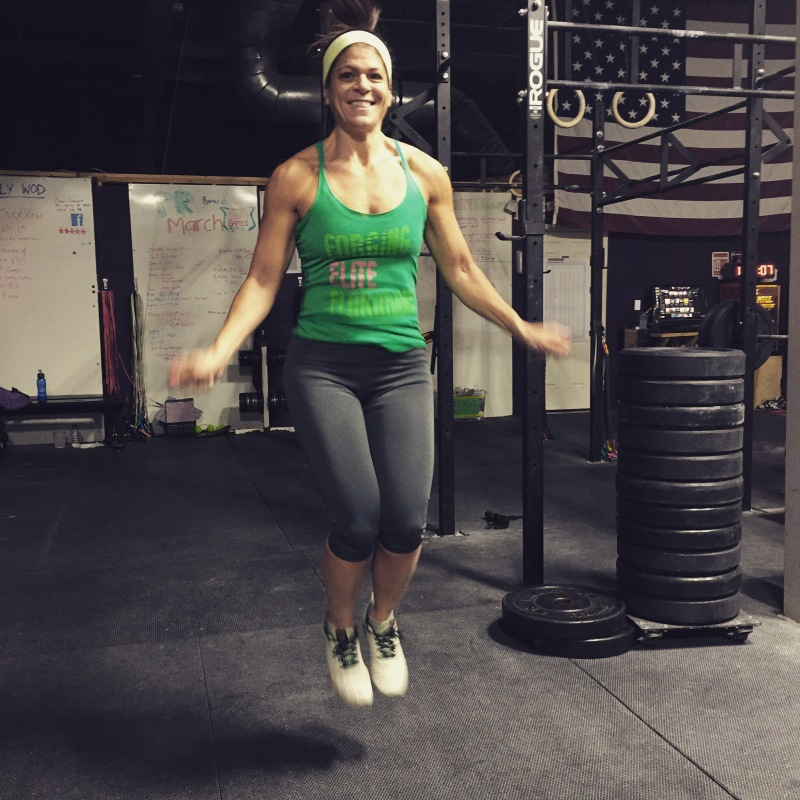 Dr. Eva Selhub at CrossFit Newton.