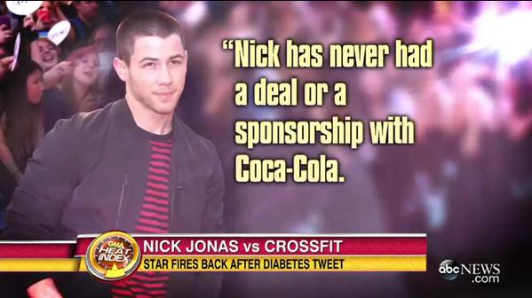 http://abcnews.go.com/Entertainment/nick-jonas-chides-crossfit-diabetes-tweet-company-fires/story?id=32172324