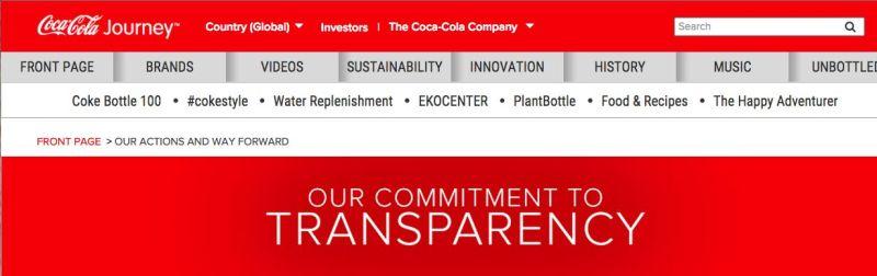 http://www.coca-colacompany.com/transparency