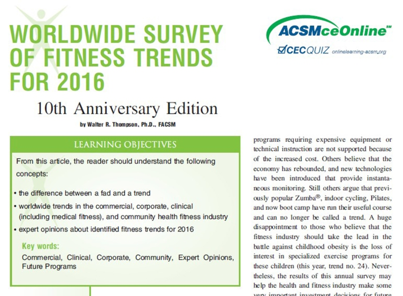 Source: http://journals.lww.com/acsm-healthfitness/Fulltext/2015/11000/WORLDWIDE_SURVEY_OF_FITNESS_TRENDS_FOR_2016__10th.5.aspx