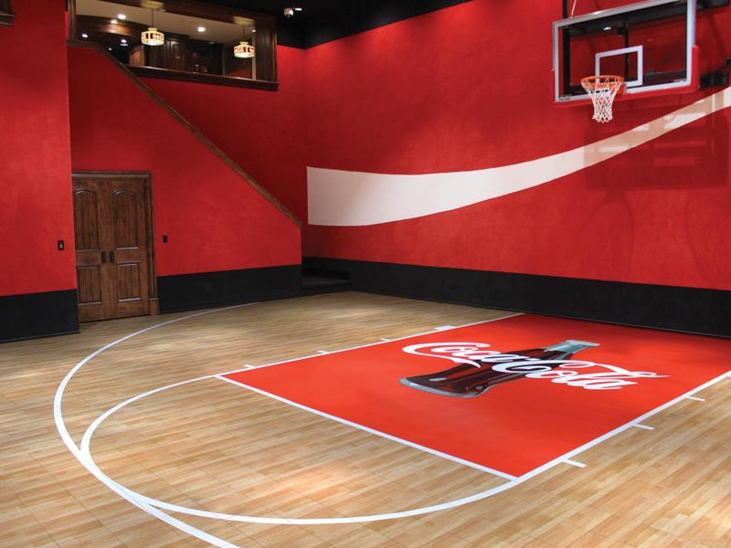 "A Coca-Cola branded gym seems like a joke, but what if you call it ""Exercise is Medicine"" instead? http://www.sportcourtla.com/featured-sports/details/sports-home-gyms"