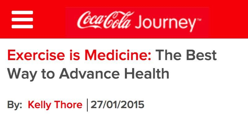Source: http://www.coca-colajourney.co.nz/stories/exercise-is-medicine-the-best-prescription-to-advance-health