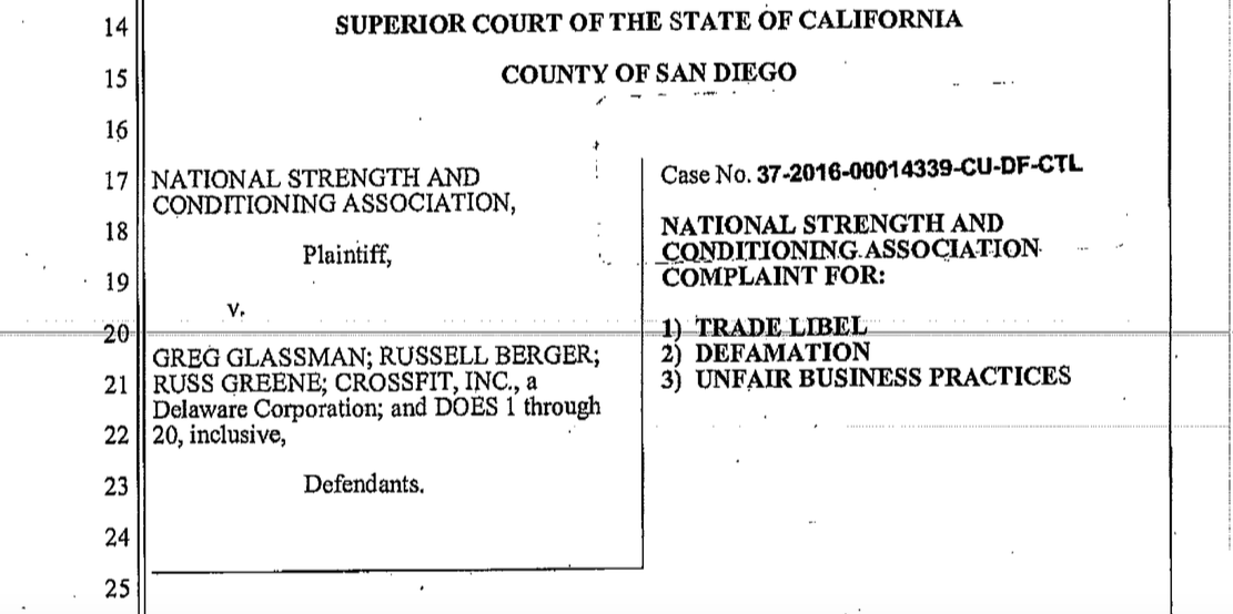 The Nsca Sues Crossfit To Silence The Truth Keep Fitness Legal