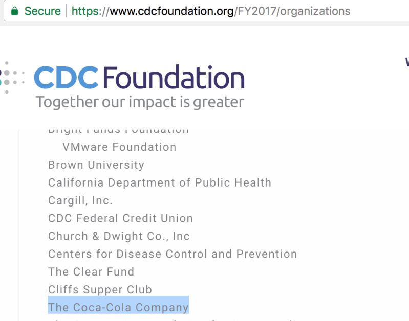 New Nimh Grants Fund Cross Lifespan >> Coke S Covering Up Payments To Cdc And Nih Foundations Keep
